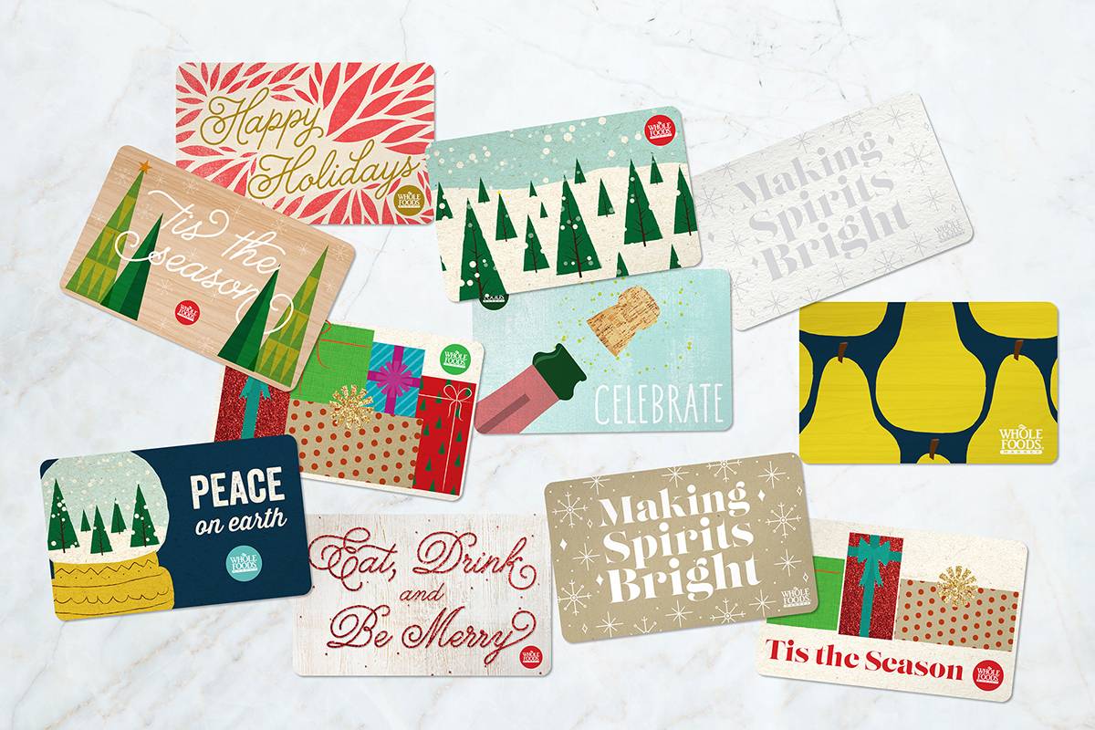 Whole Foods Market Holiday Gift Card Concepts on Behance