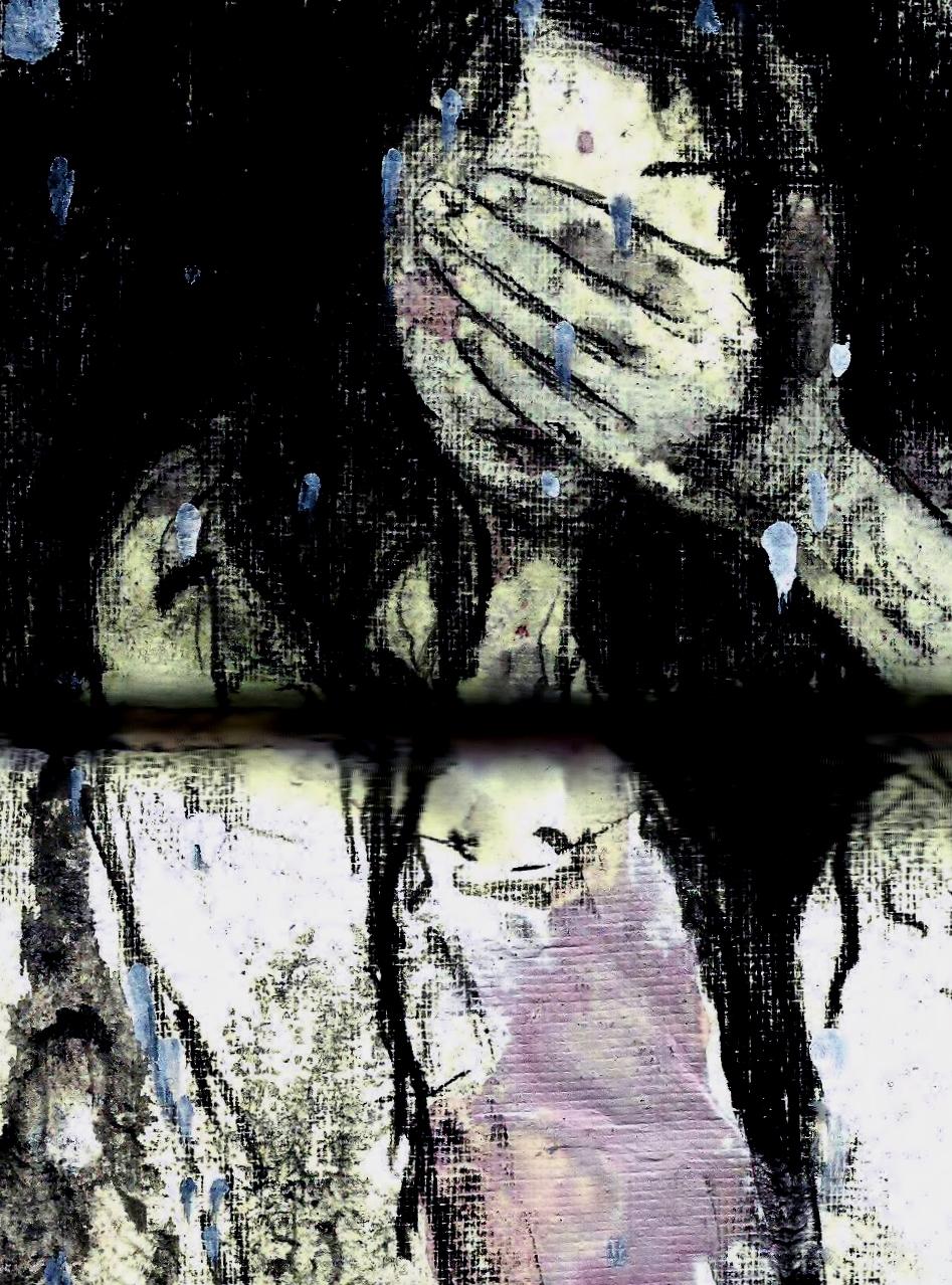 olivia weiss dream selfportrait night bath charcoal