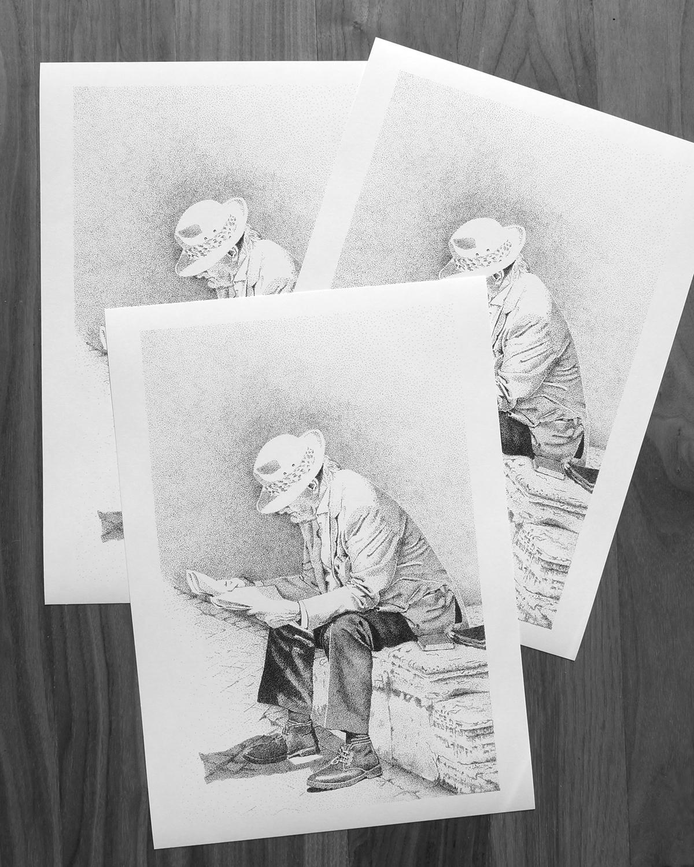 dotwork stippling pointillismus Black&white