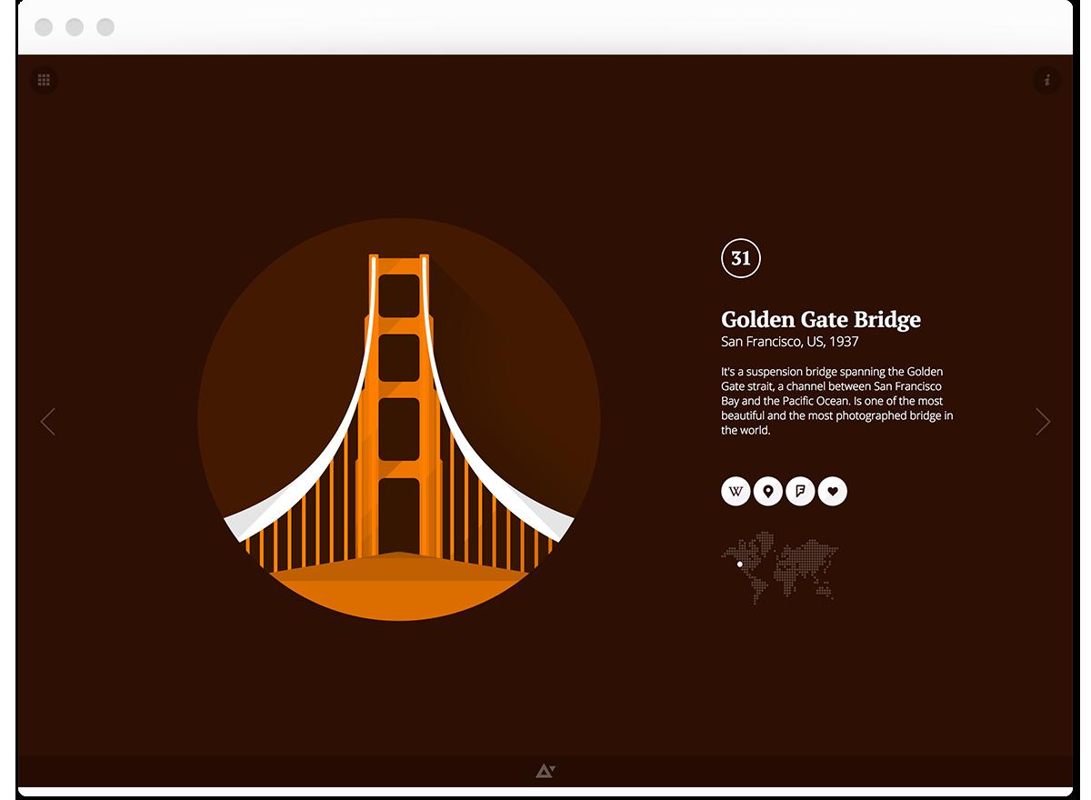 flat illustrations Web cordoba miami mexico Rio de Janeiro New York London berlin sydney Responsive