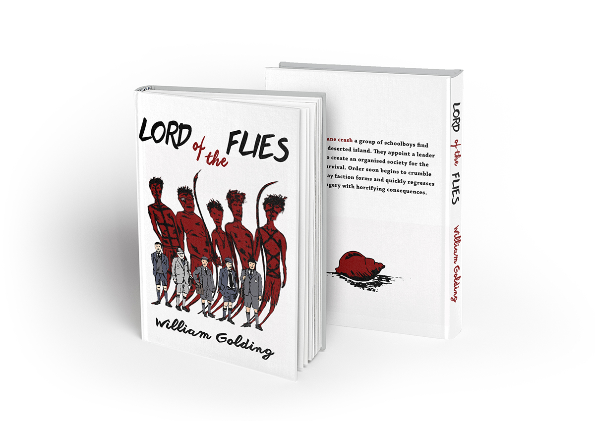 Classic Book Cover Re Design For Lord Of The Flies On Behance