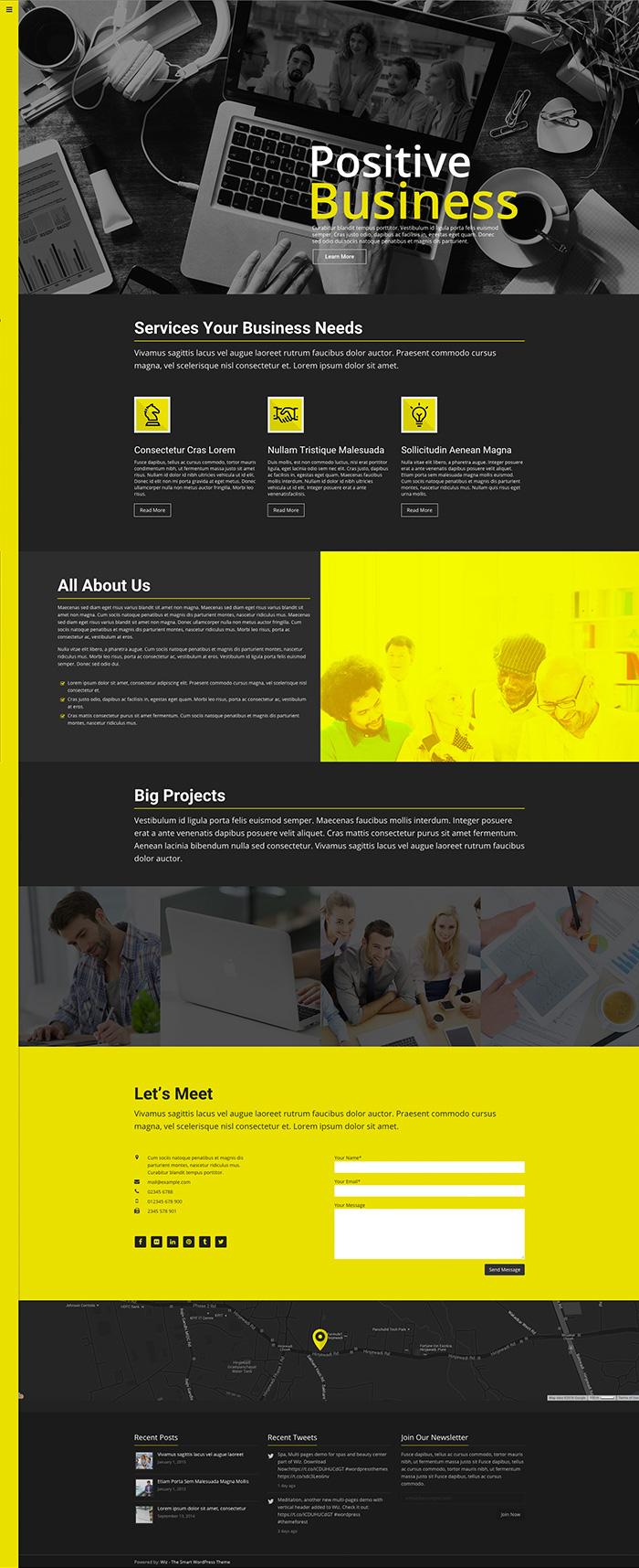 business firm wordpress Theme envato theme forest Web Design  Website