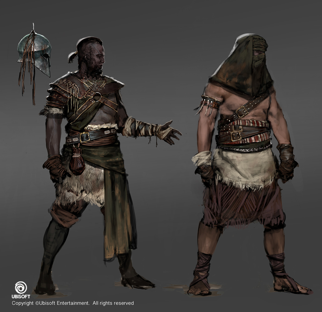 assassin character art assassin's creed: origins character concept art on behance