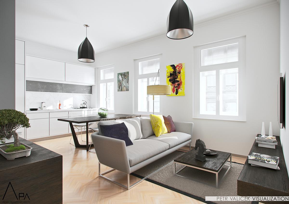 residental architecture Classical Interior modern design vizualistion APA Architects