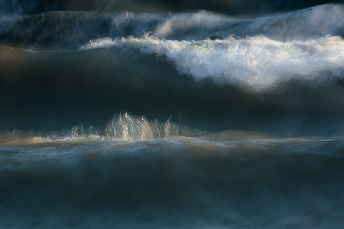 A painterly photograph of waves
