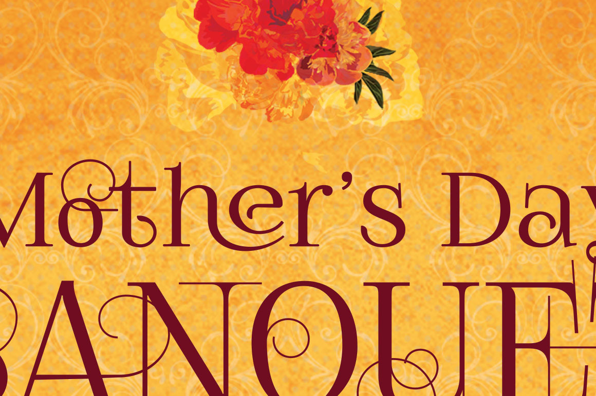 mothers day gala program template on behance