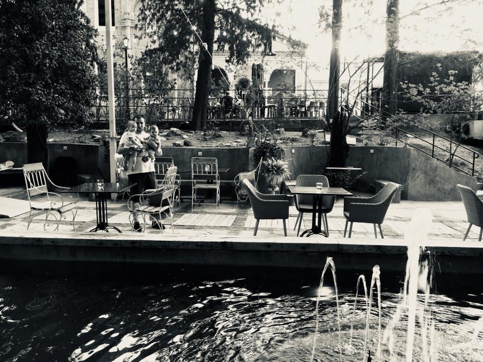 tbilisi Georgia cafe interior design  garden cafe Movies open-air vibe Retro bar