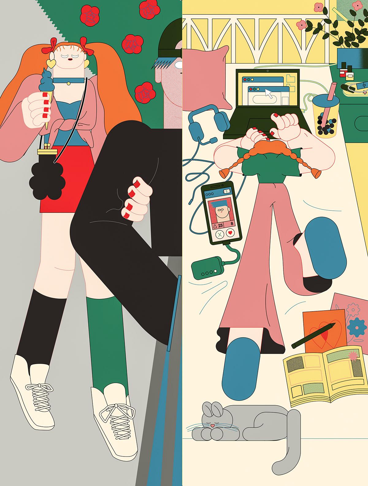 Image may contain: cartoon, drawing and poster