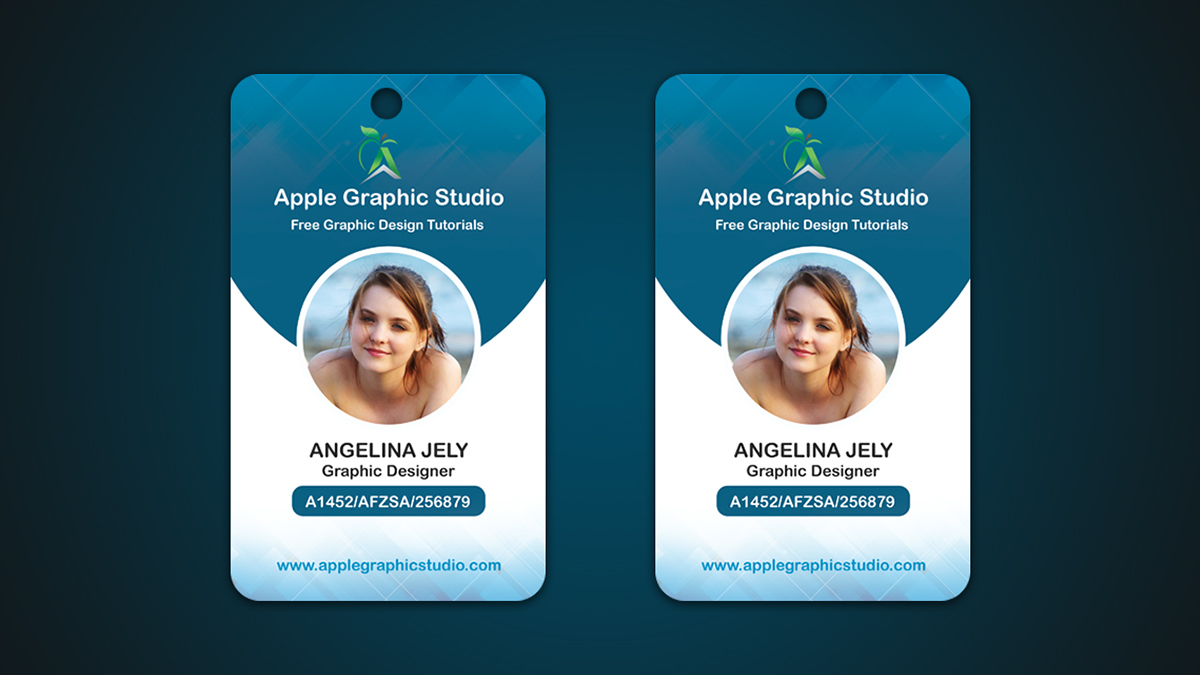 company id card on behance