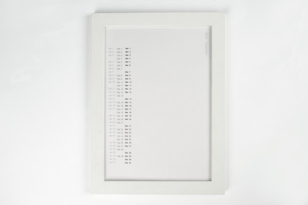 print calendar paper