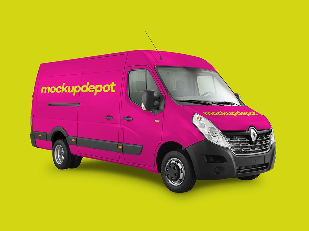 4K Work Van Wrap PSD Mockup By Depot On Behance