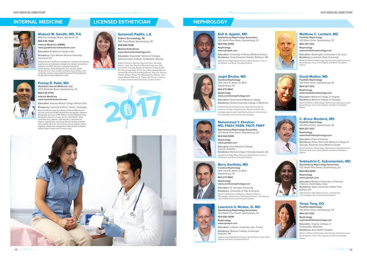 Spartanburg Herald-Journal 2017 Medical Directory on Behance
