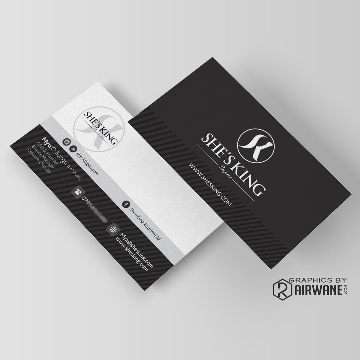 Airwane business card artwork on behance colourmoves