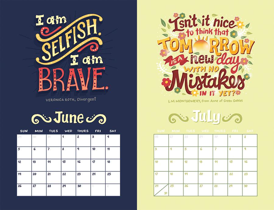 Calendar Design Quote : Ya calendar on behance