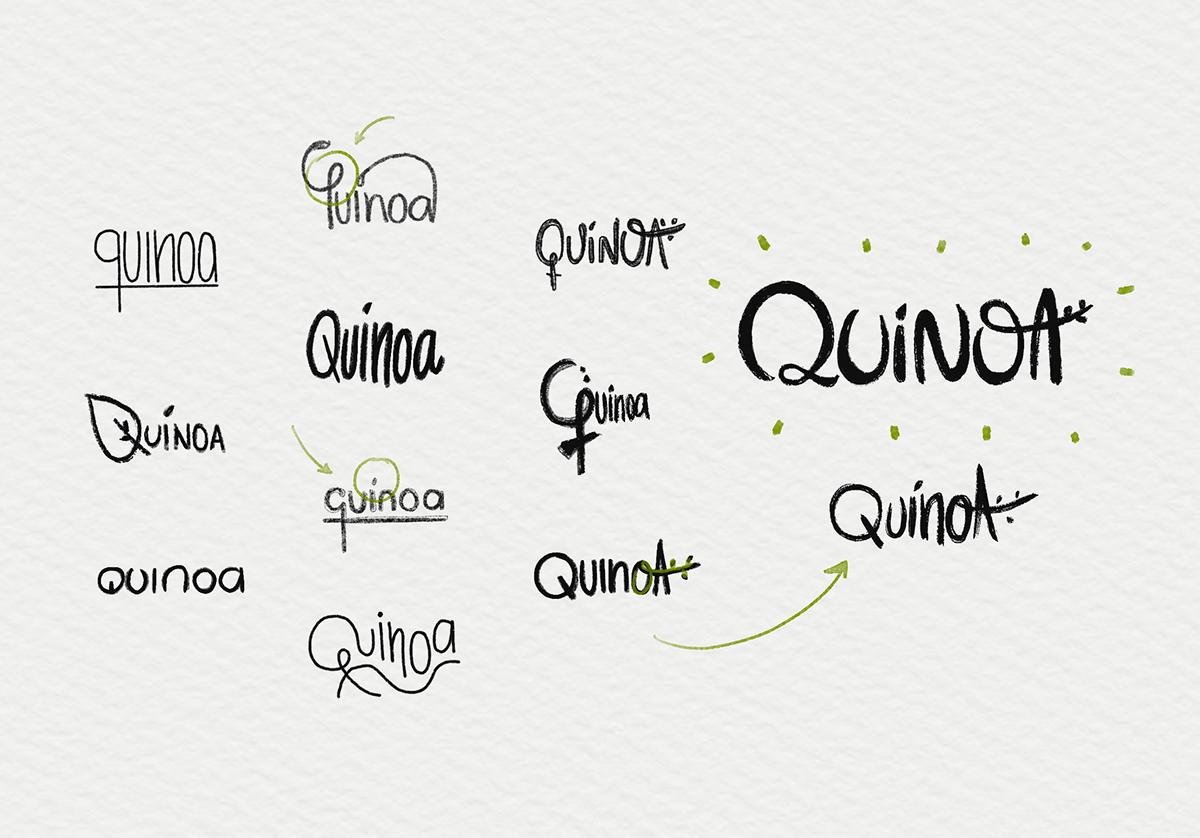 branding  Stationery restaurant lettering organic pattern slow food South America venezuela visual identity