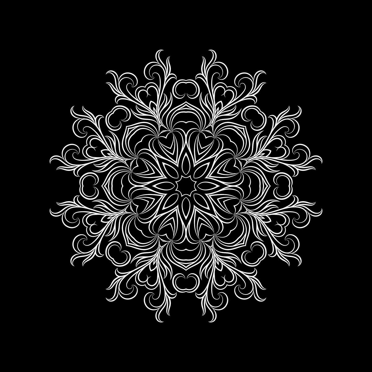 Mandala black and white pattern vector vectorart