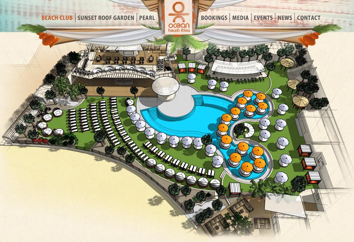 Ocean Beach Ibiza: Interactive Bookings Map on Behance