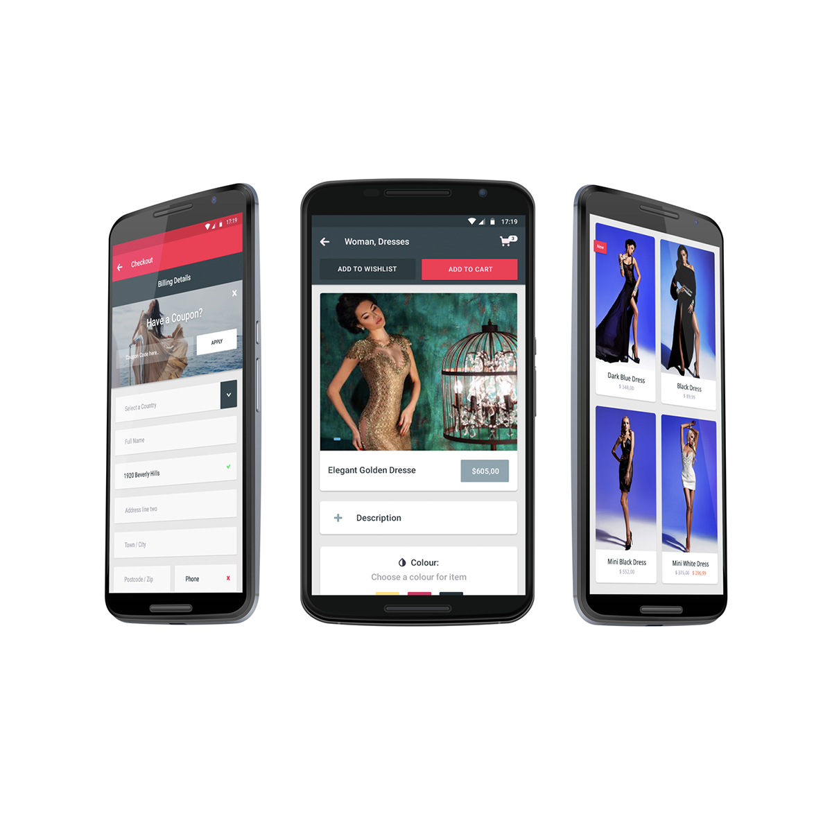 Material Design E-Commerce App for Android  on Wacom Gallery