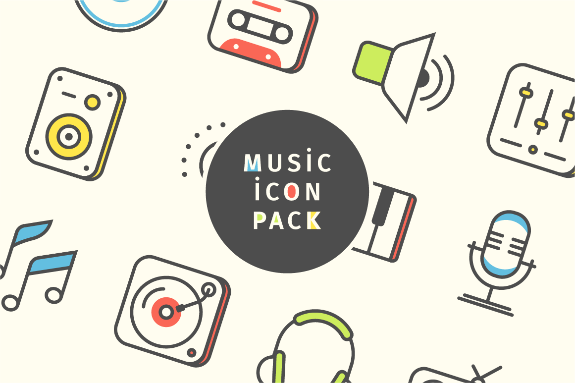 UI music Audio sounds studio party compact disc cassette Radio icons