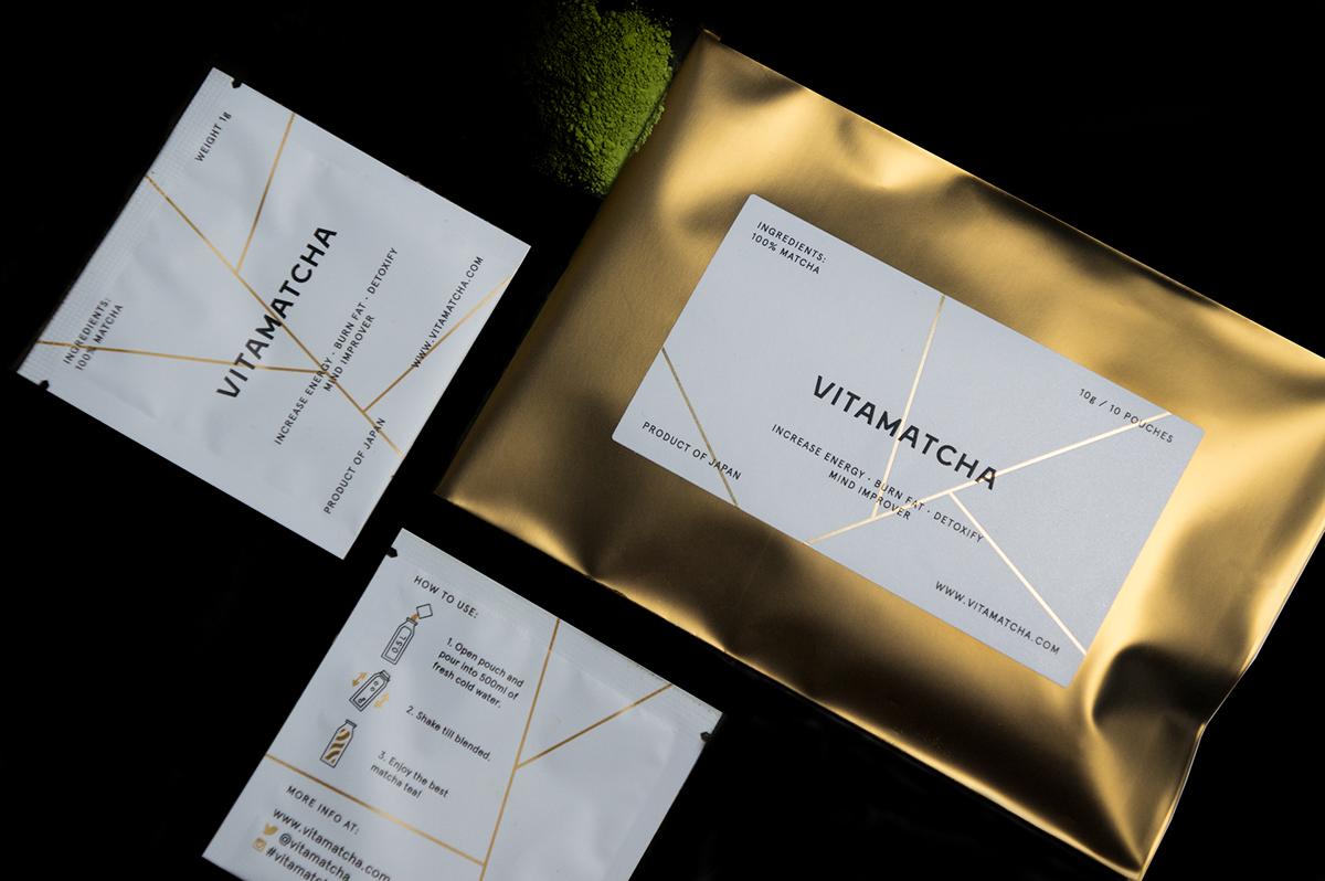 Packaging Minimalism tea drink Food  healthy eco organic matcha