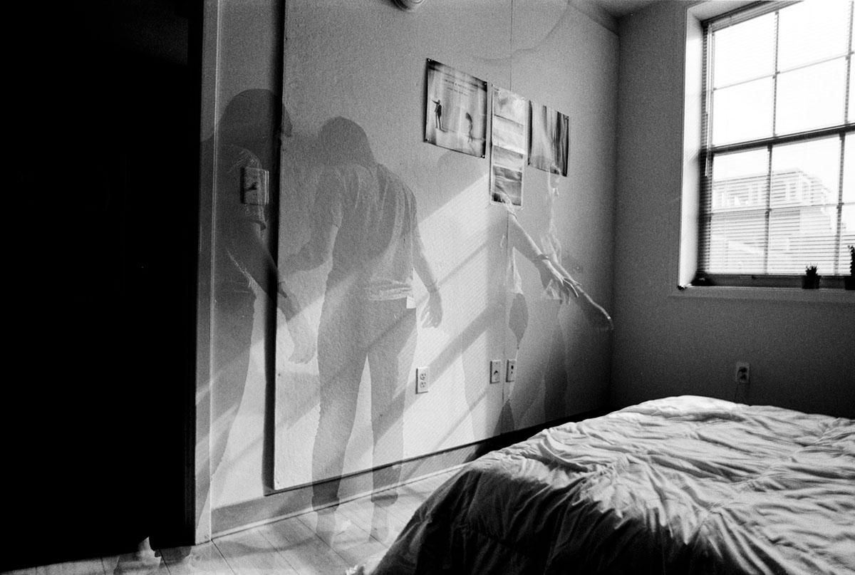 black and white photo Nikon