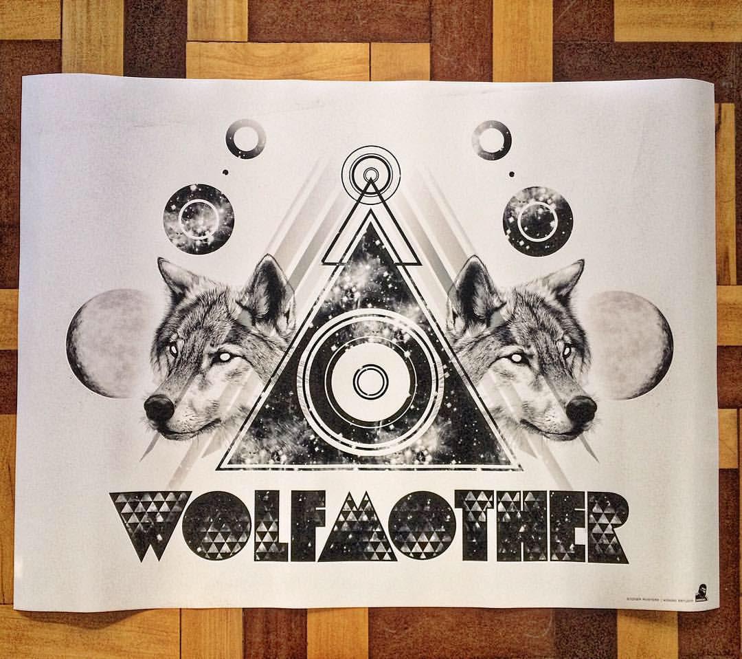 stoner rock geometry optical art Rock Art Poster.