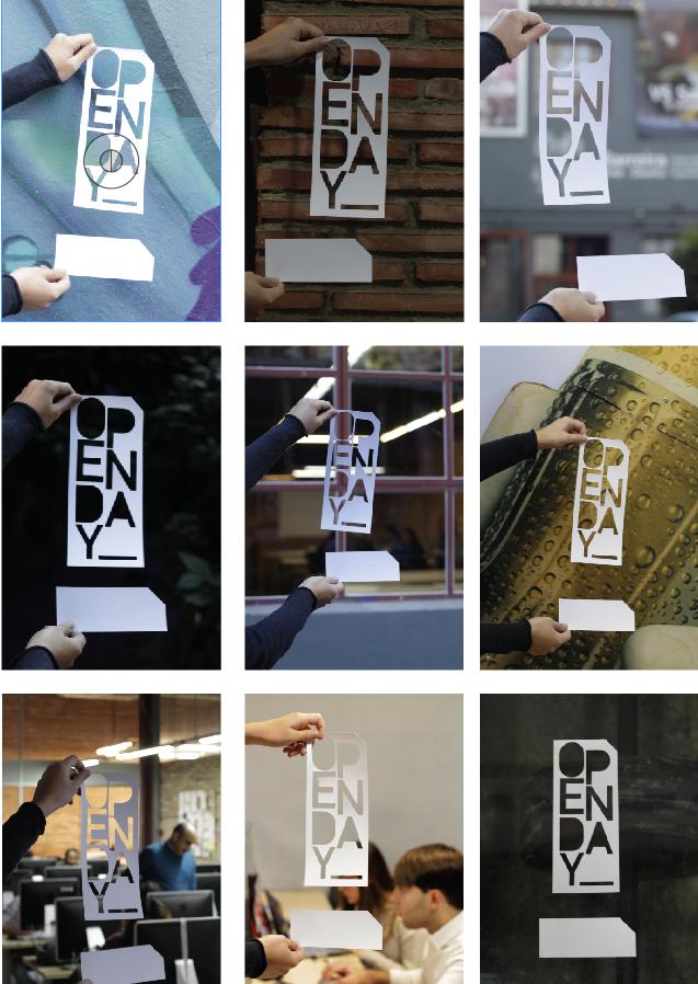 barreira cartelería dirección de arte escuela de diseño Fotografia Open Day