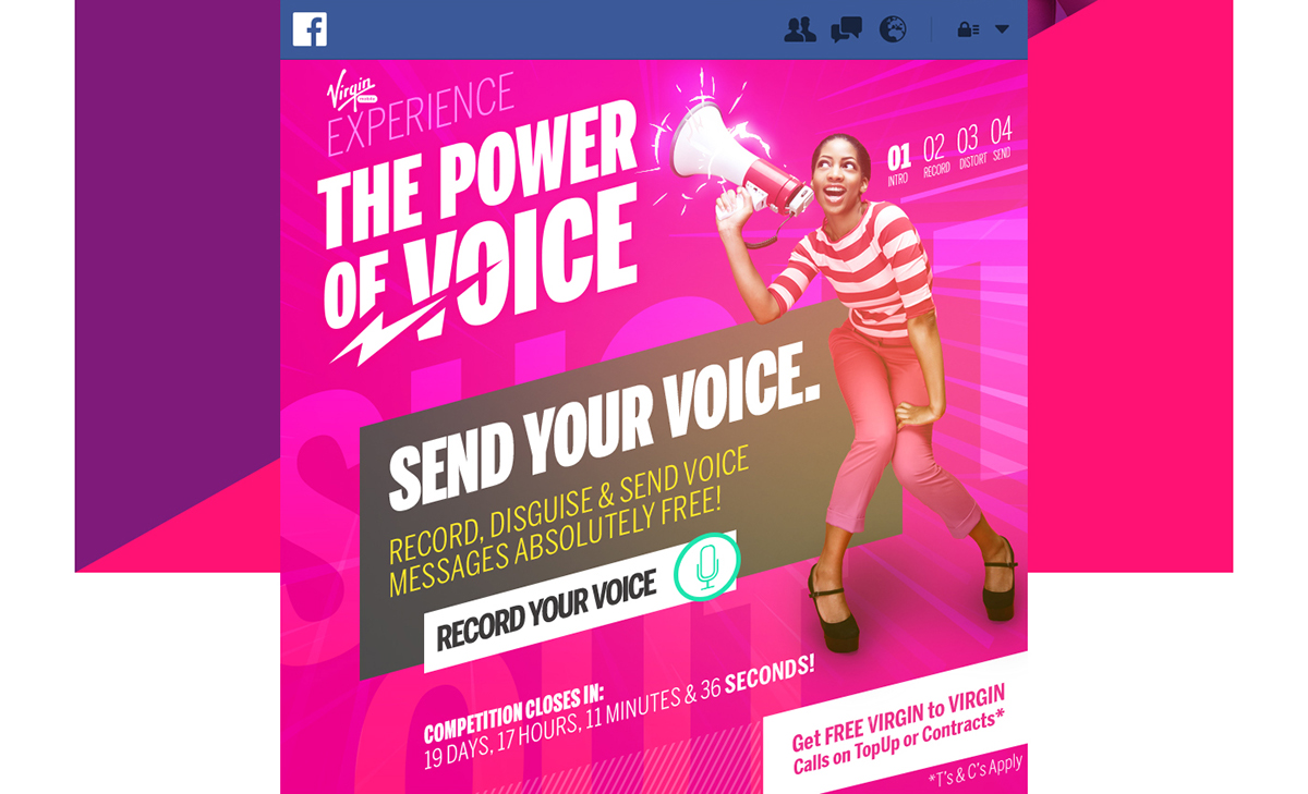 Virgin Mobile: Power of Voice App on Behance