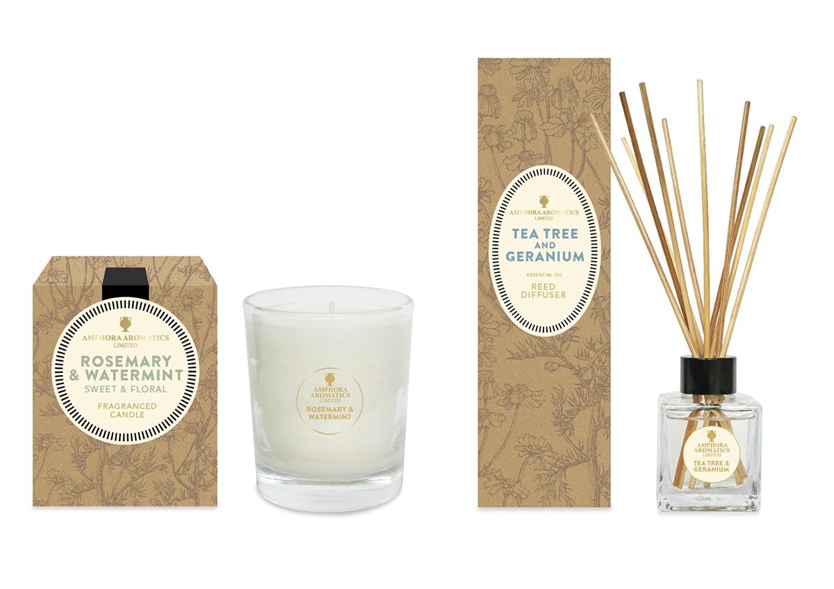Amphora Home Aroma Range Packaging Design On Behance