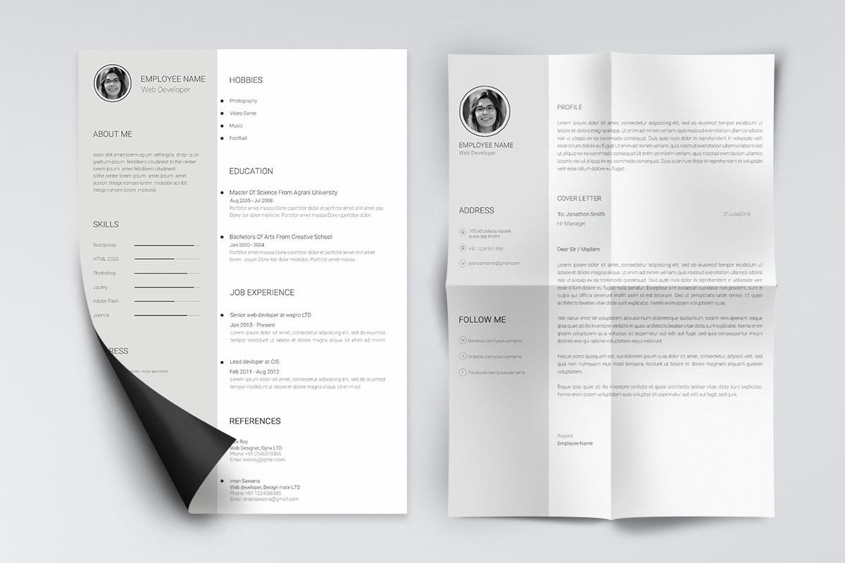 Minimal and Clean Resume Template ( Free PSD ) minimo on Pantone ...