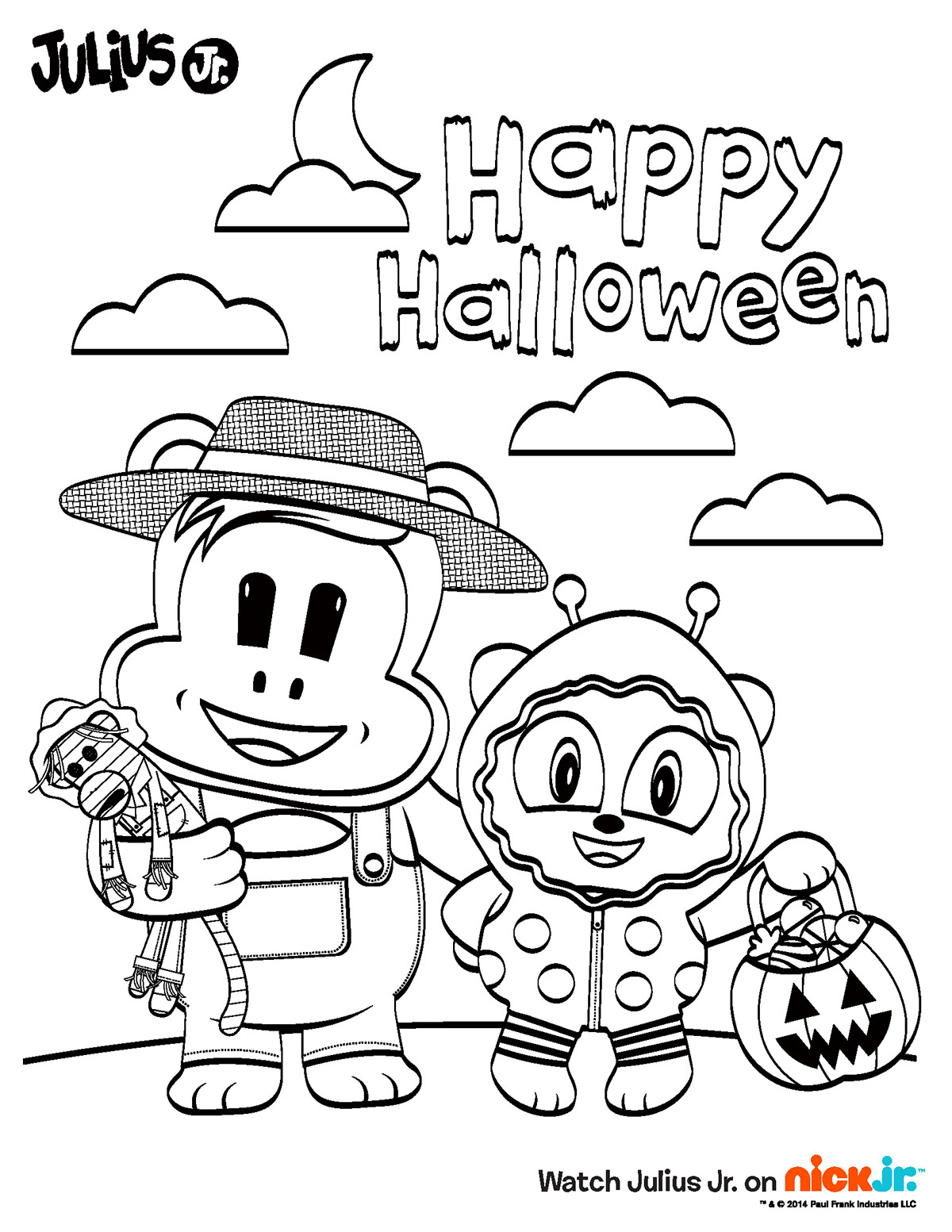nickelodeon halloween coloring pages - photo#36