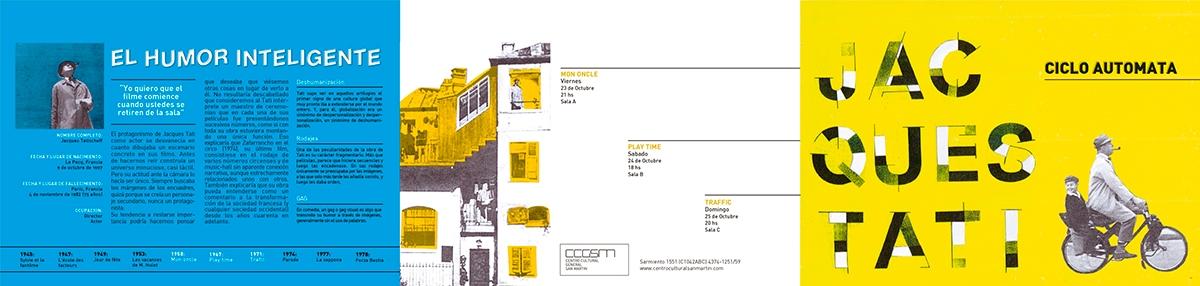 cine collage jacques Tati diseño Gabriele poster afiche triptico