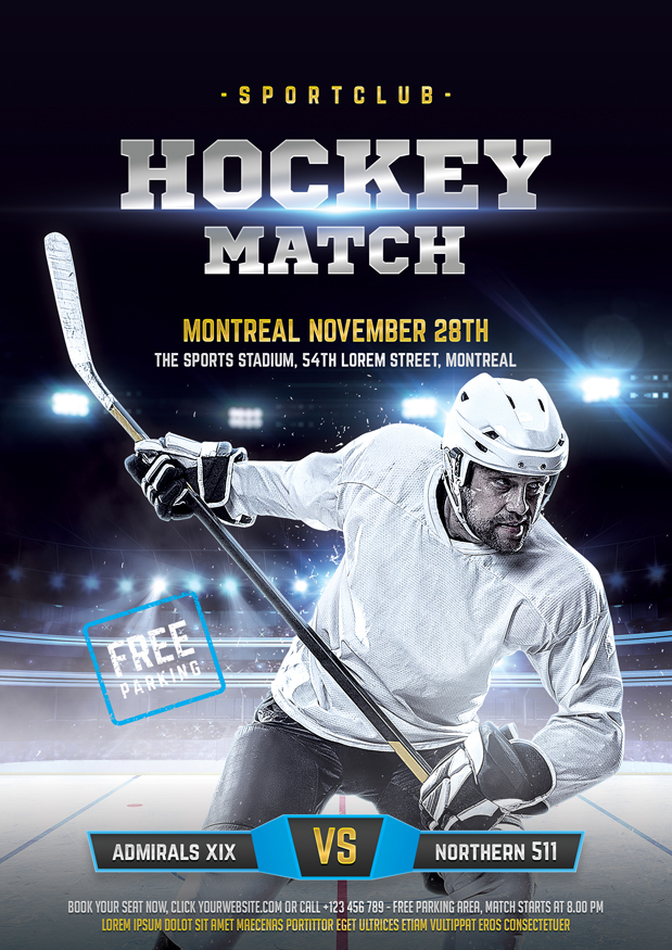 Hockey flyer on behance maxwellsz
