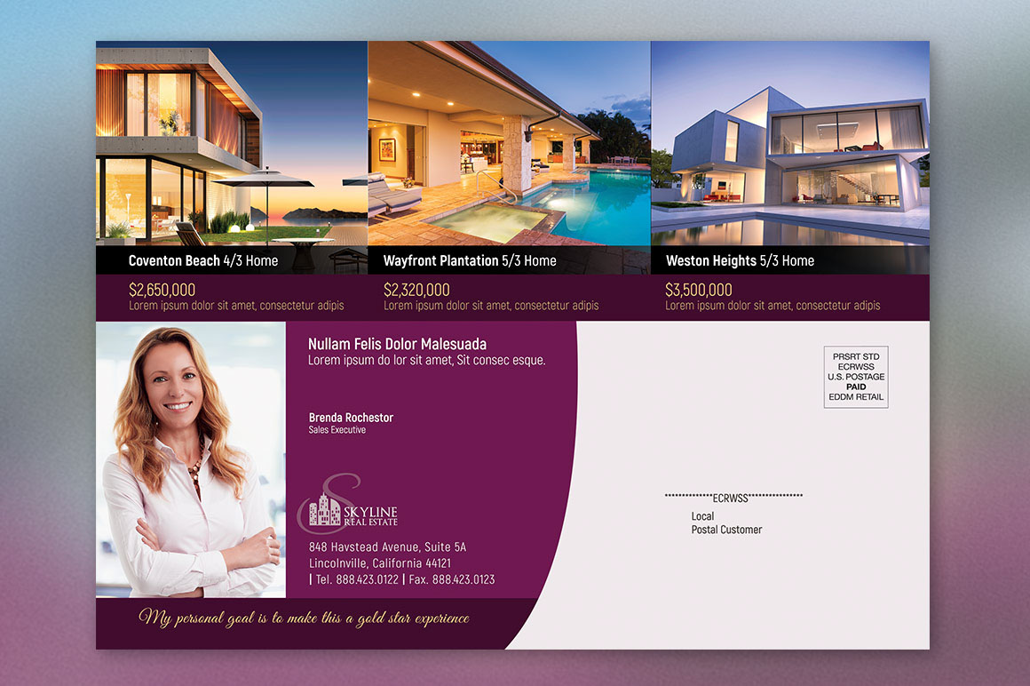 Realtor Postcard Template On Behance