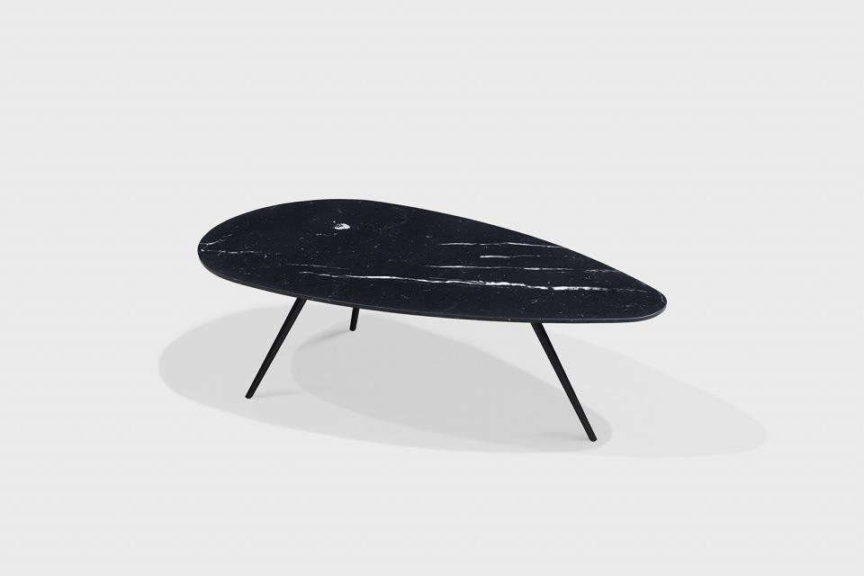 coffee table Marble minimal design minimal egg brass TCC WHITESTONE