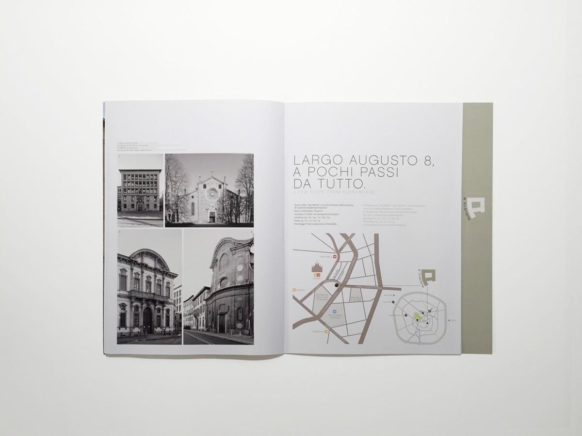 brochure print logo graphic design building Diecut