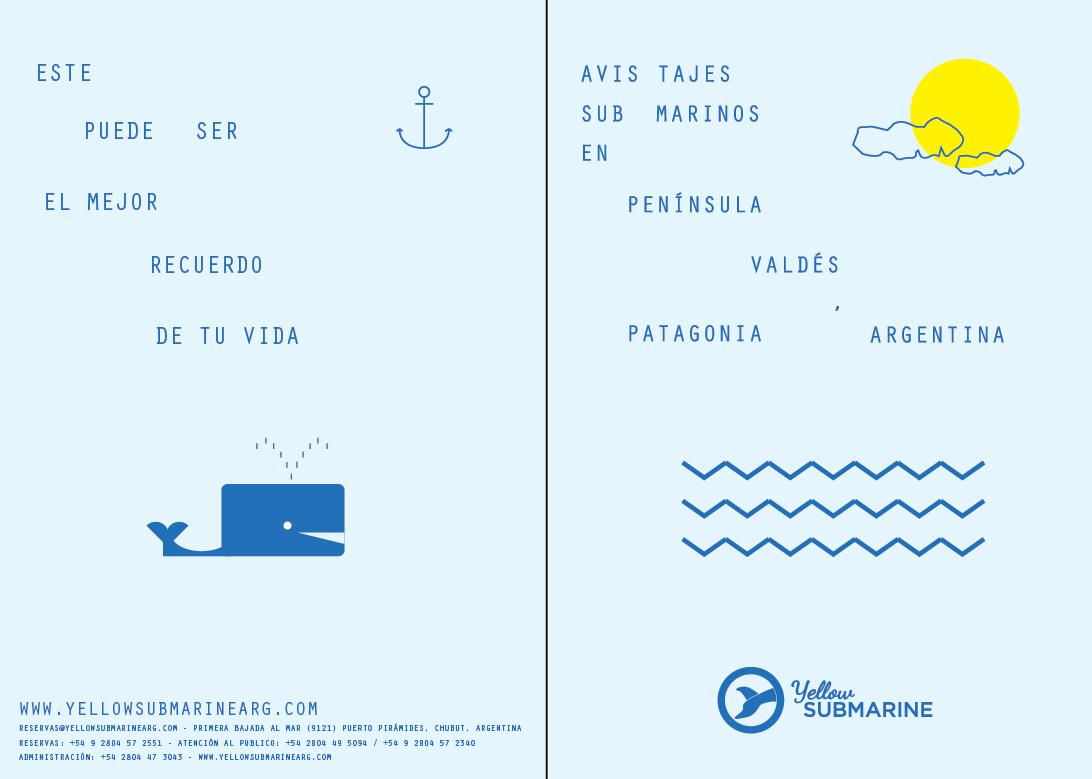 Adobe Portfolio tourism argentina submarine Ballenas