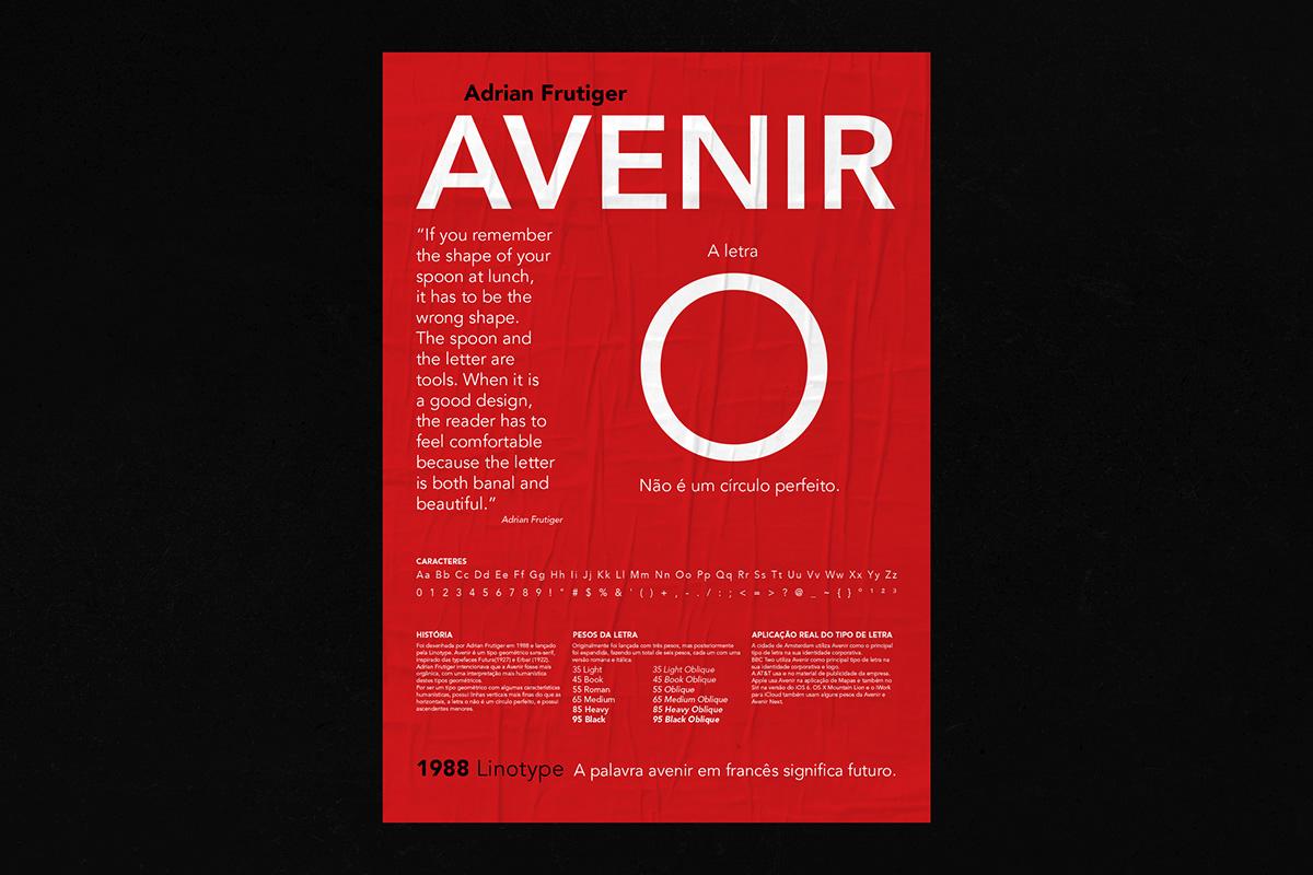 AVENIR, TYPOGRAPHIC POSTER on Pantone Canvas Gallery