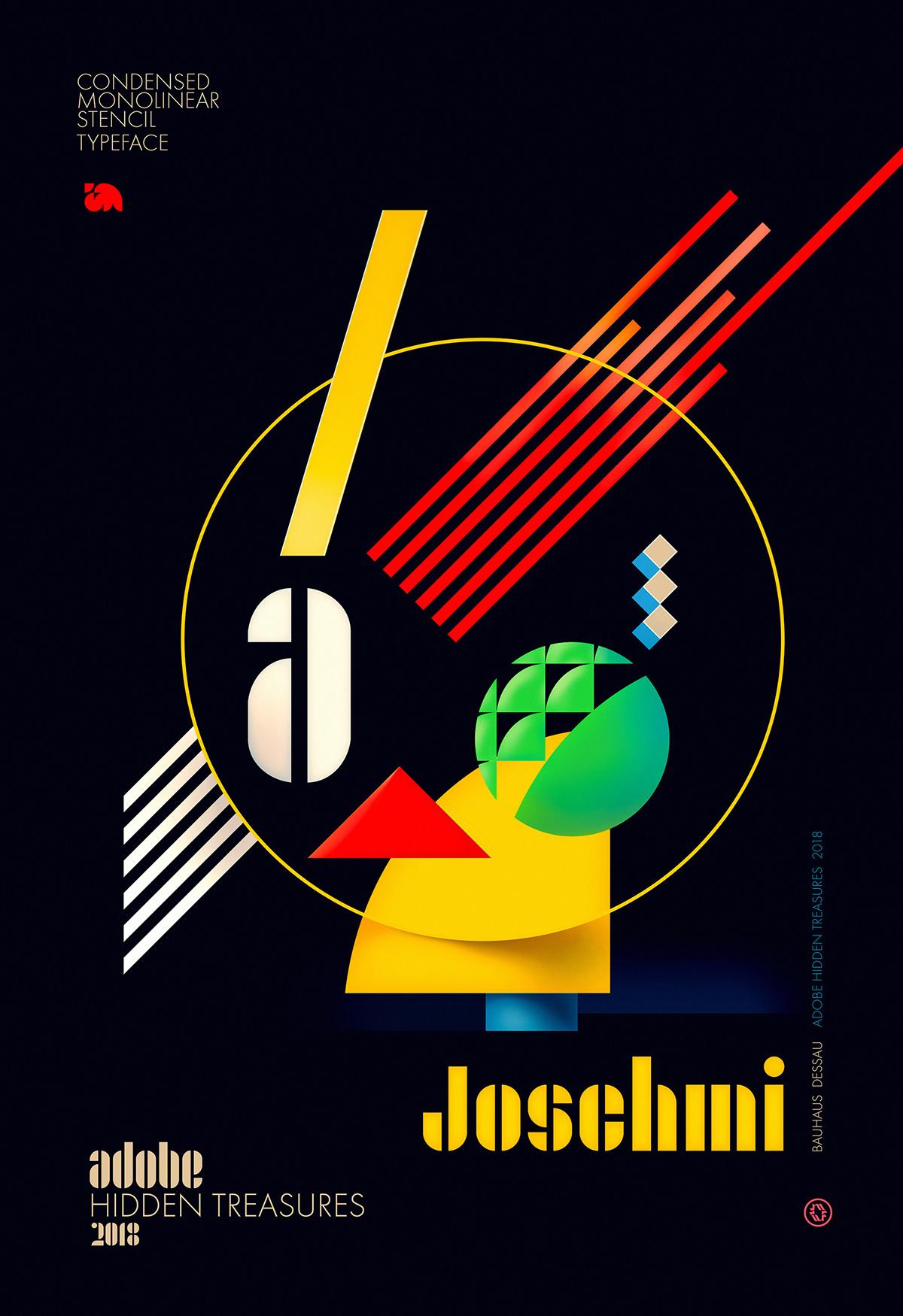 AdobeHiddenTreasures contest bauhaus ILLUSTRATION  wflemming color posters bauhaus 100 modernism