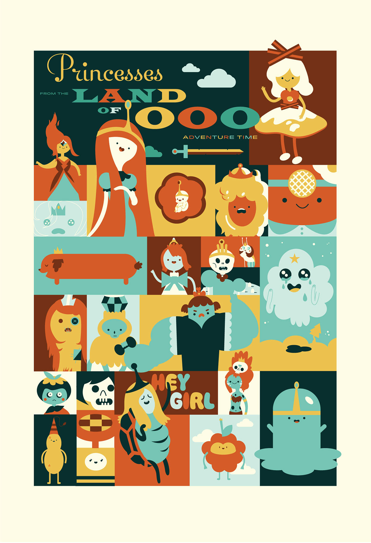 Fakeanything Com Adventure Time Princess Poster On Behance