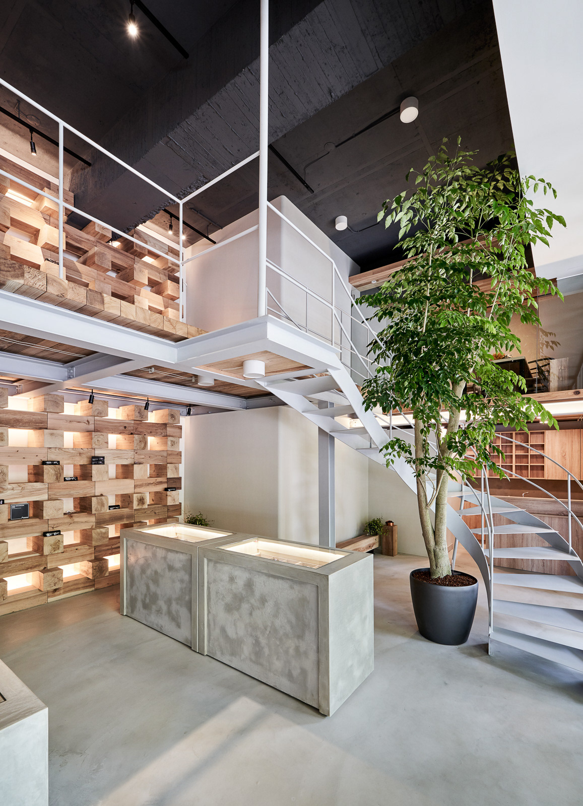 architecture Commercial Store heycheese interior design  mezzanine optical store renovation Soar Design taiwan wood