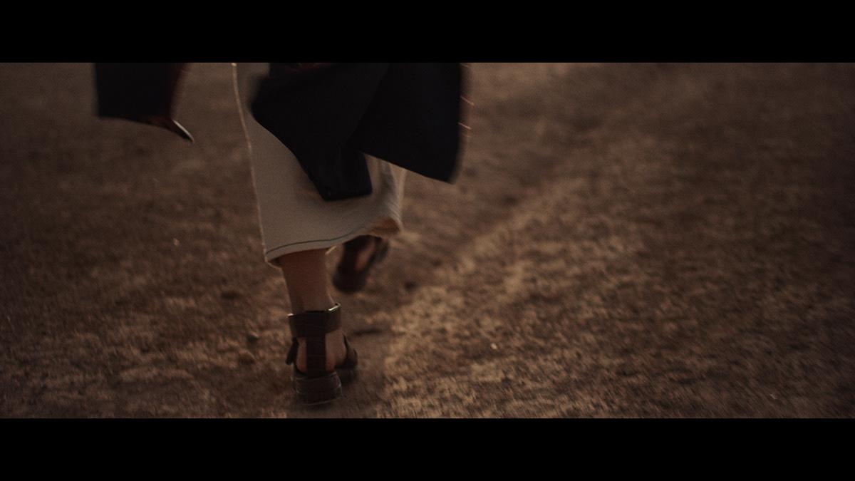 Morocco desert golden hour cinematic Super 8 red