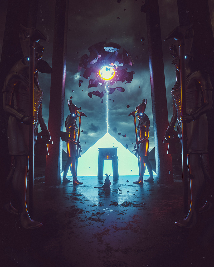 adobe dark egypt music nefertiti photomanipulation photoshop Ps25Under25 Sci Fi surreal