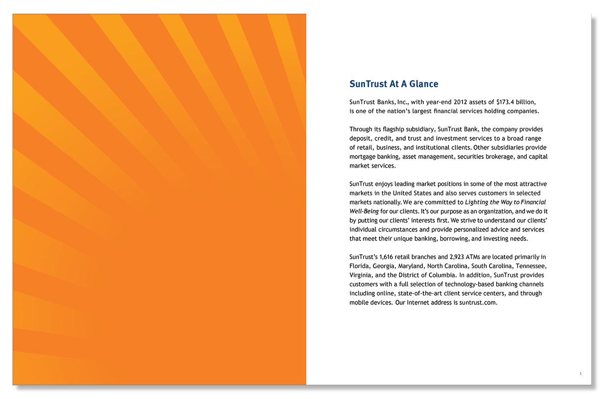 SunTrust Annual Report on Behance