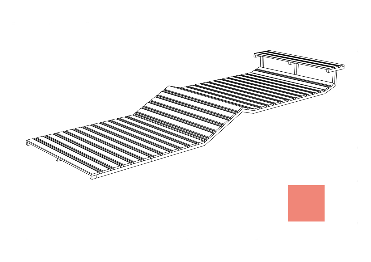 wood Embankment Modular System outdoor furniture oak ash steel river Landscape environment