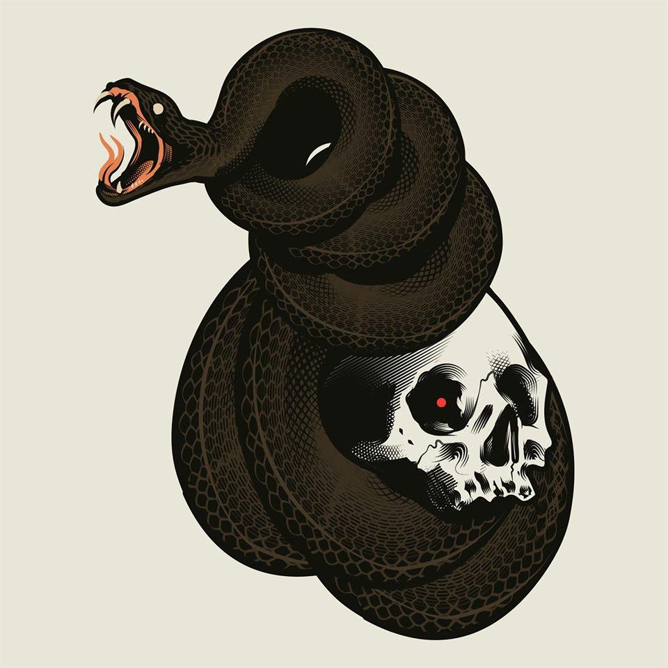 brush design skin snake texture aesthetic dark music vinyl Vinyl Cover