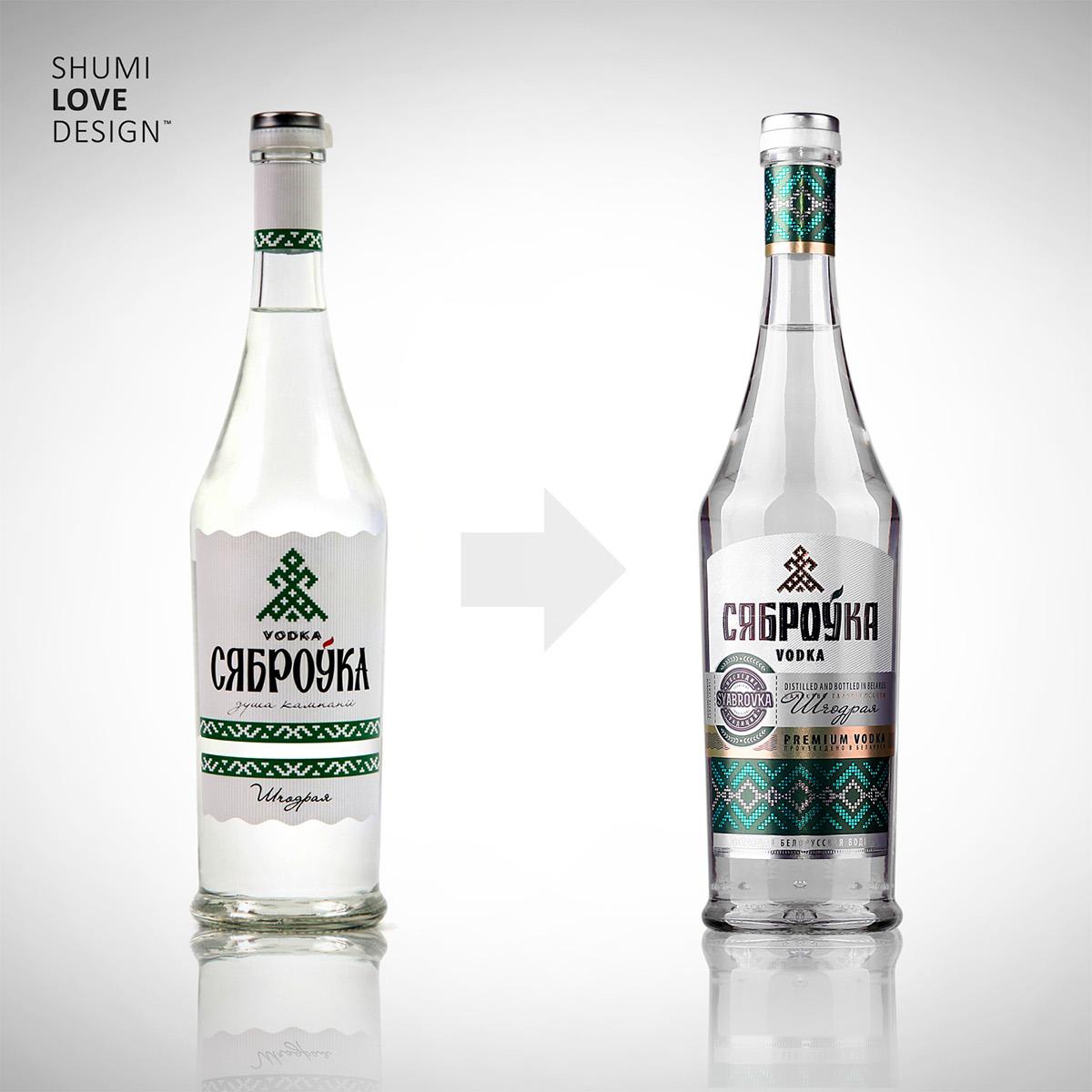 Vodka label design Sumilov shumilovedesign