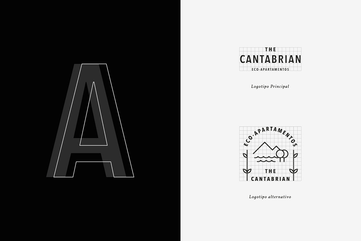 hotel apartments eco Sustainable cantabrian Nature Stationery branding  vacation tourism