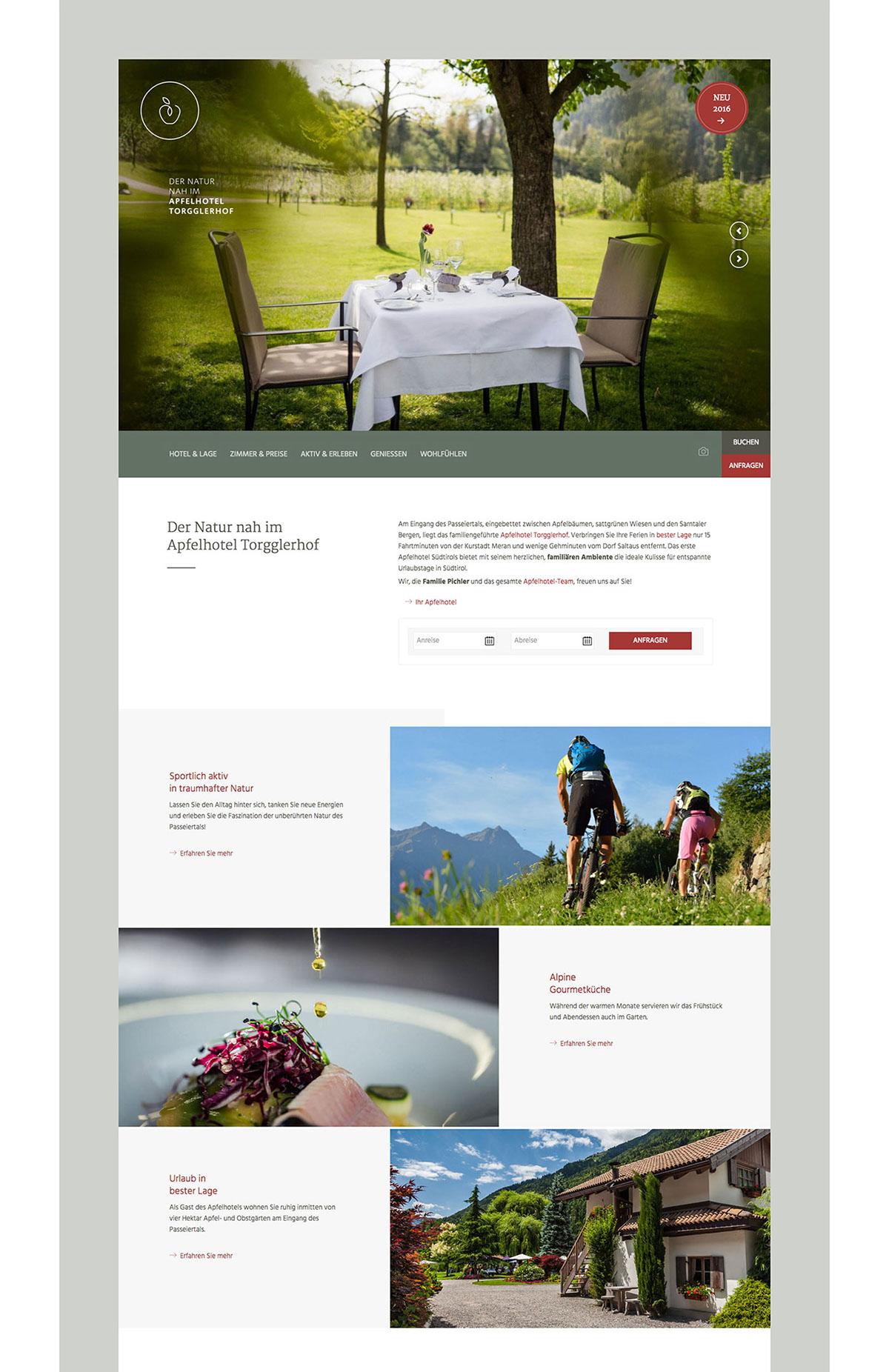Screendesign Designverliebt Meran südtirol hotel Apfelhotel