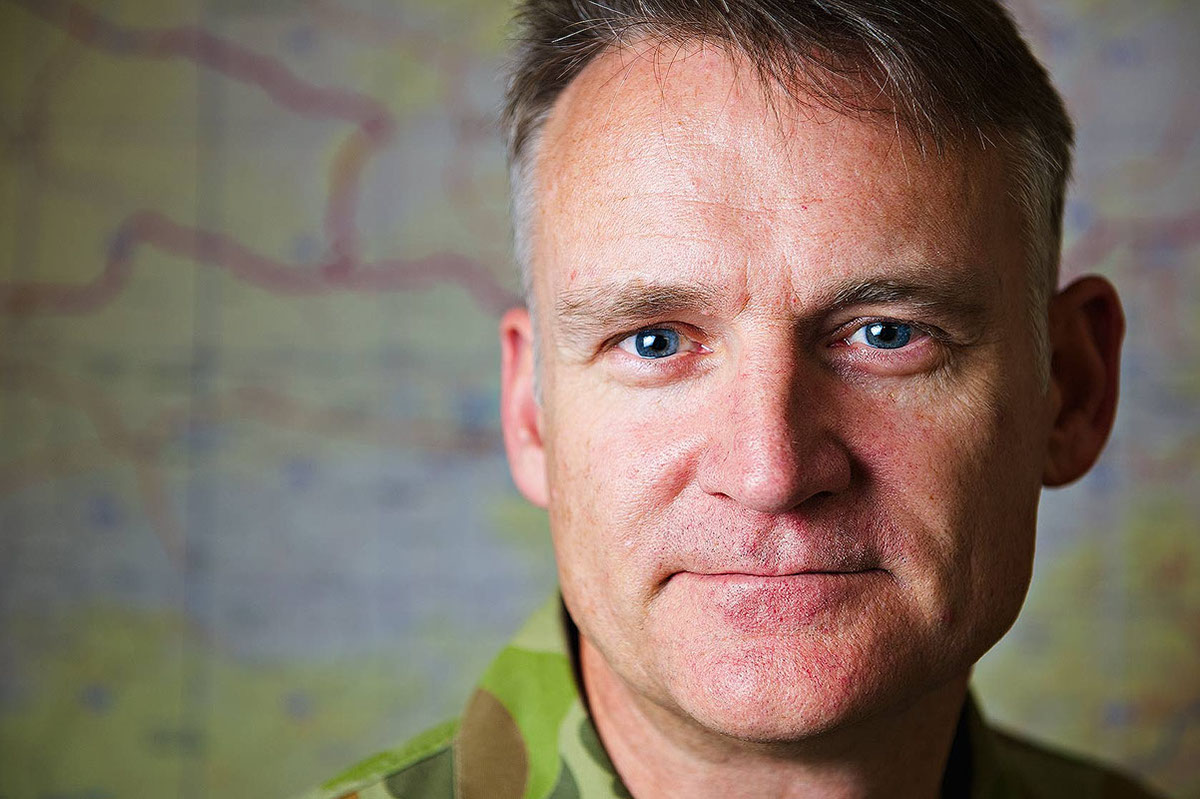 Joint Task Force 633 Assistant Commander, Brigadier (Brig) Michael Mahy in his Kabul office